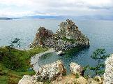 Скала Шаманка (мыс Бурхан), оз.Байкал, остров Ольхон, фото Юрия Гукова